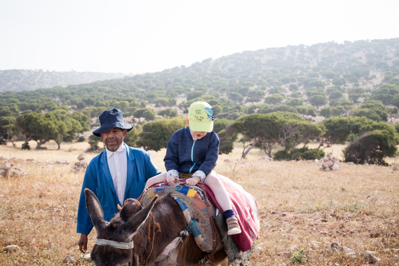 Essaouira kids friendly visite cascades âne